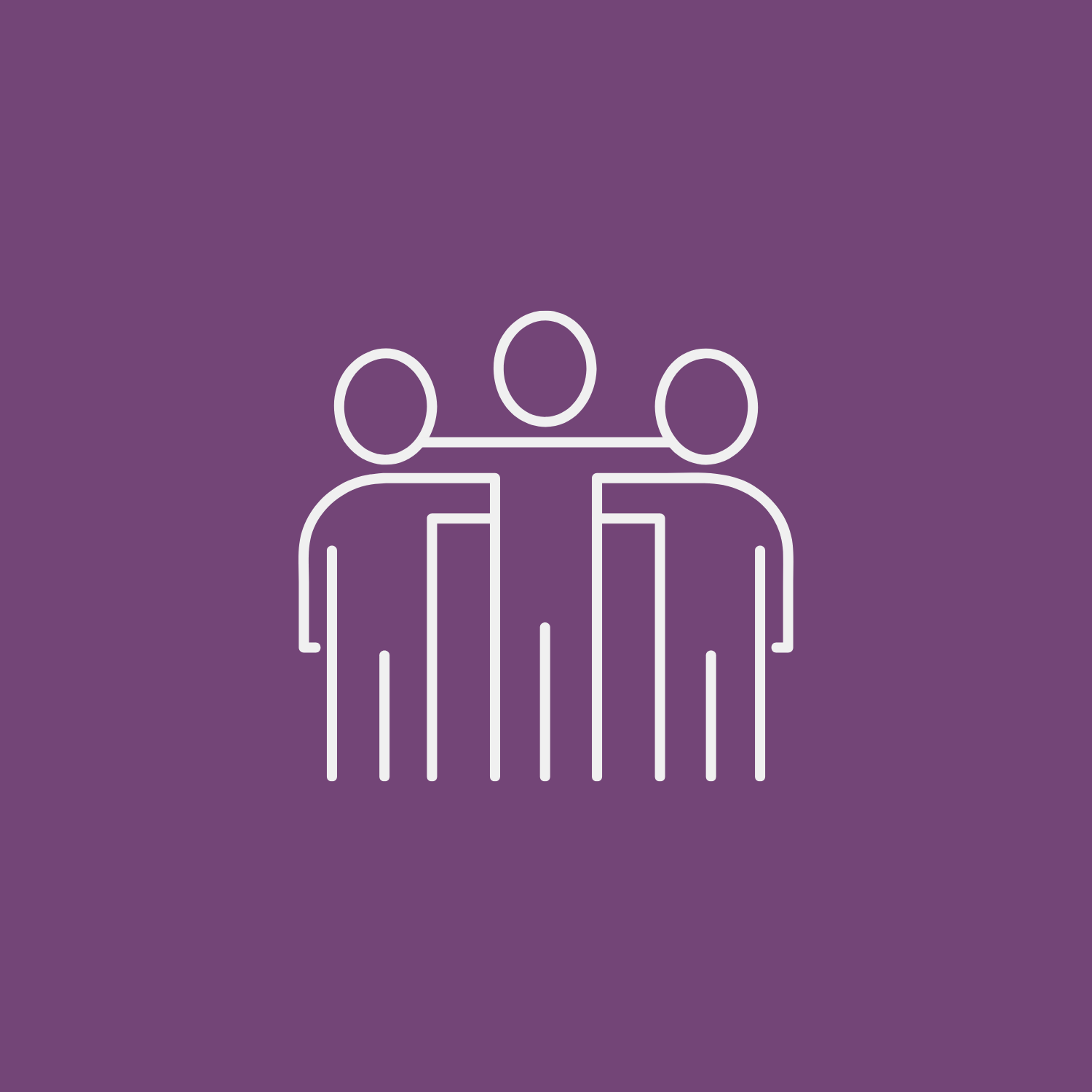 Illustration of three humans with arms around each other