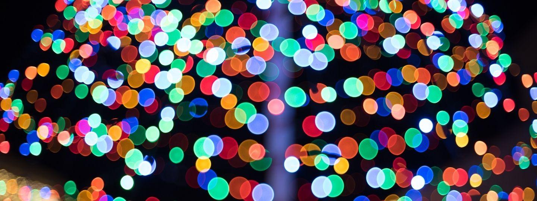 a image with Christmas lights