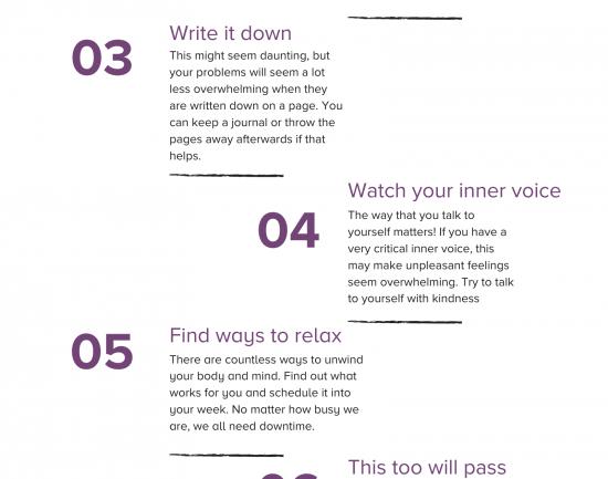Tips for managing feelings