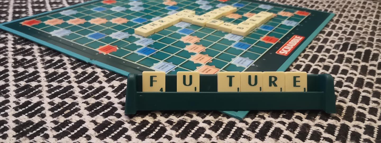 future in scrabble tiles