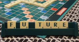 a image of scrabble pieces spelling out future