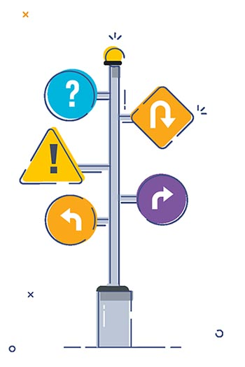 illustration of a signpost