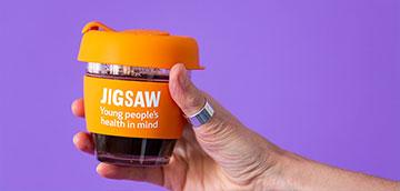 Jigsaw branded keepy cup