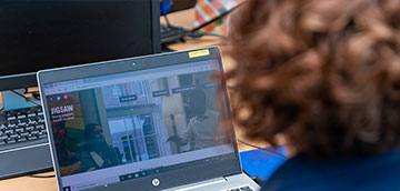 pic of woman at computer screen